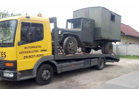 Tehaerautó szállítás
